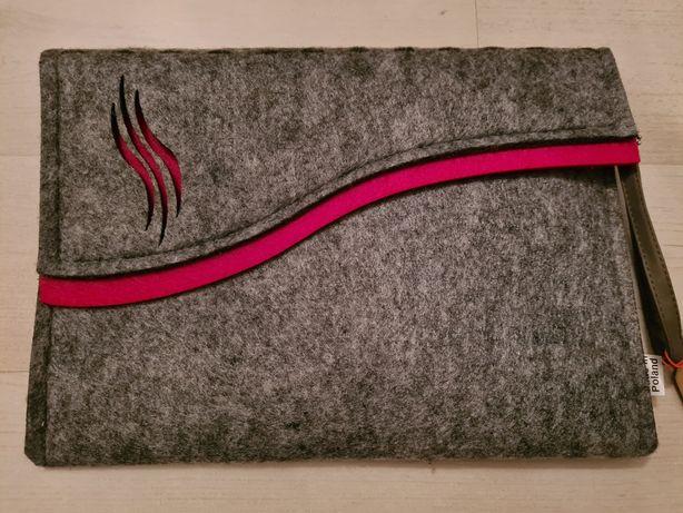 Etui filcowe na tablet kolor szaro różowy