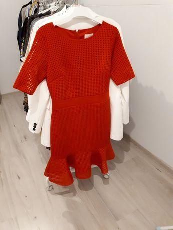 Koralowa sukienka r 38