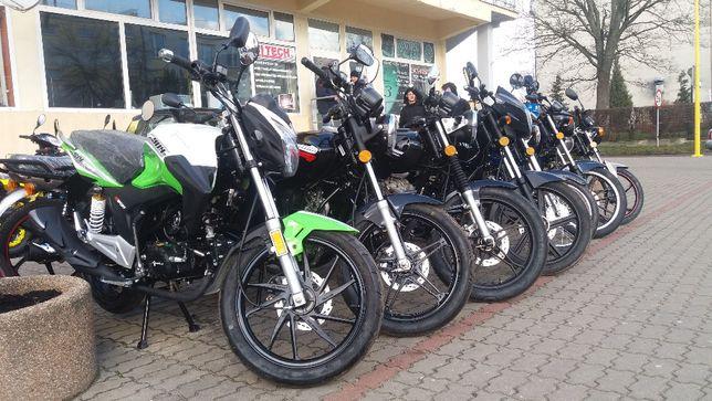 Skuter motorower, nowy z gwarancją 2-letnią za gotówkę lub na raty.