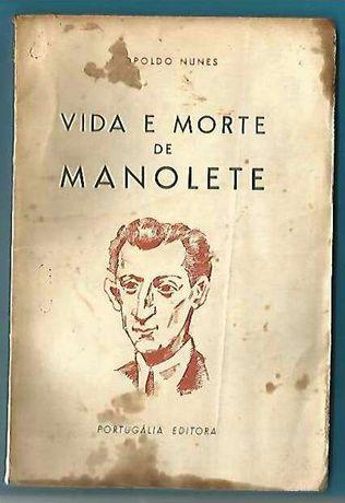 Monolete toureiro e tourada por Leopoldo N. dedicatória rara 1a edição