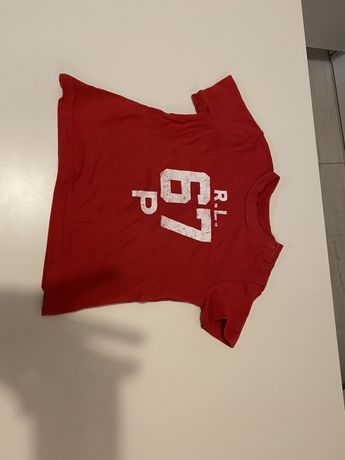 Koszulka ralph lauren stan idealny 9 mc 74 cm