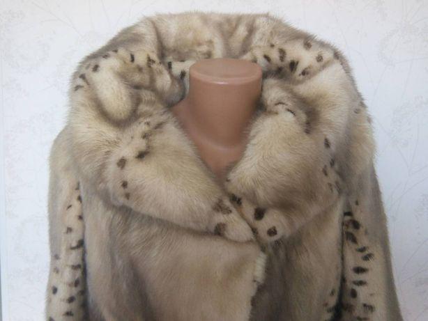Шикарная норковая норка шуба шубка полушубок жилетка капюшон р 42-46