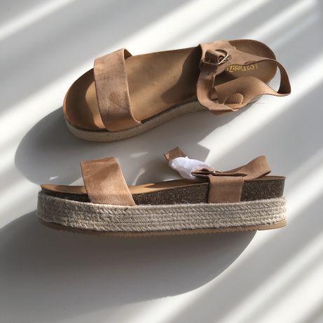 Жіночі босоніжки женские босоножки на платформе сандалии эспадрильи 40