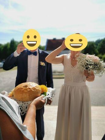Zestaw 2 sukienek na Ślub Cywilny + buty + ozdoba