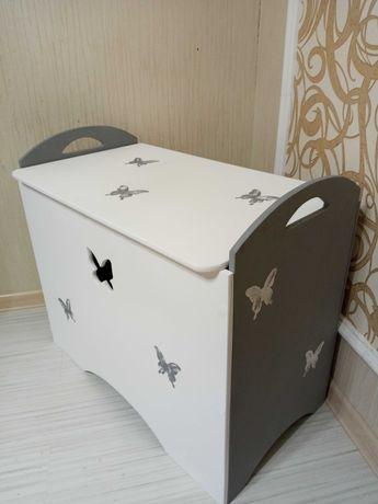 Ящик для хранения игрушек. Ящик из МДФ. Ящик за 750 грн.