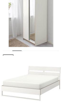 Estrutura de cama (160x200) com estrado incluído e Roupeiro IKEA