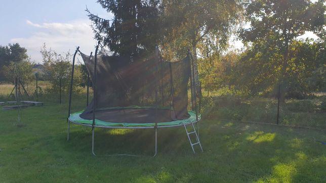 Trampolina ogrodowa 374CM kompletna z drabinką