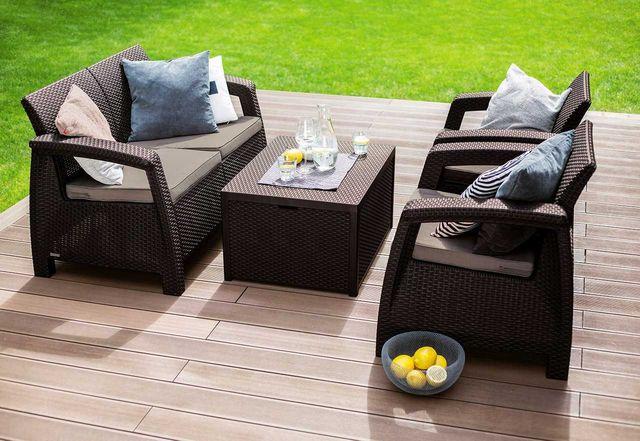 Комплект мебели Corfu Box, садовая мебель, меблі Кетер, садові меблі
