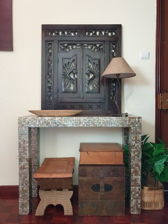 mesa, consola, secretaria, apoio, area,  rustica