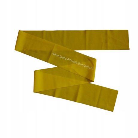 Taśma do ćwiczeń Affordable Fitness żółta 2m x 12