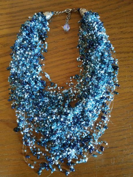 Бисерное воздушное ожерелье