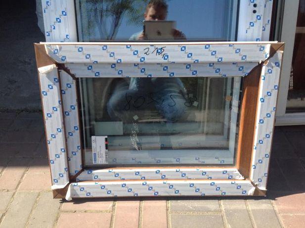 okno pcv 80x60 złoty dąb tanio nowe tania wysylka