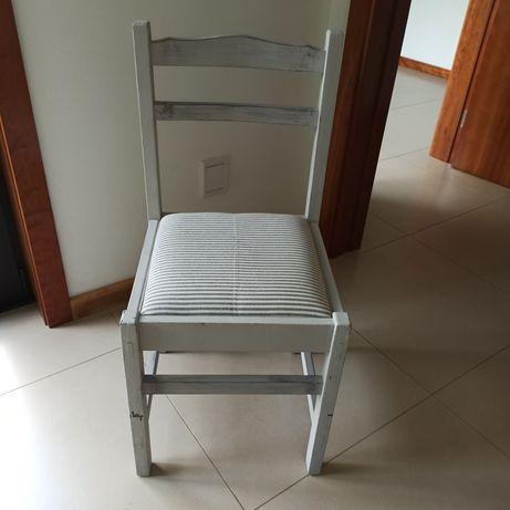 Cadeira madeira rústica renovada