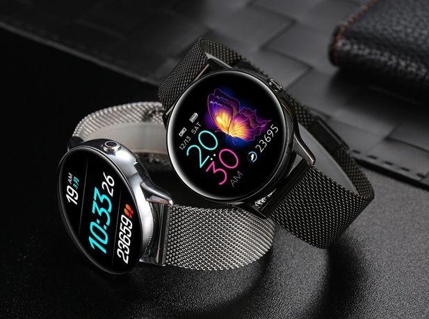 2x Smartwatch dla niej dla niego Silver Pink Melanda