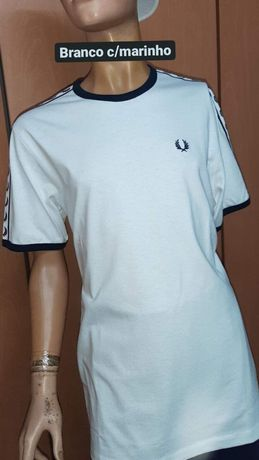T-shirt branca Fred Perry