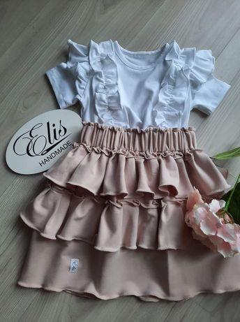 Muślin dresówka Lato sukienka spódniczka body bloomersy