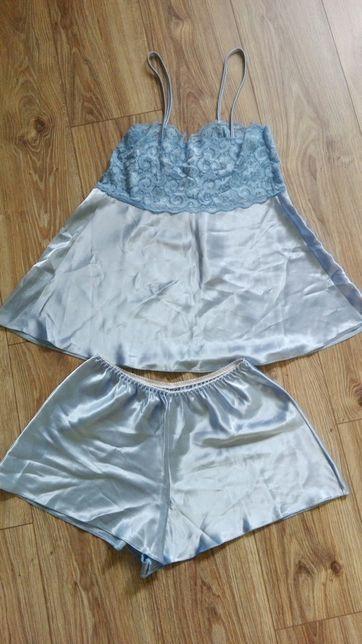 Satynowa damska piżama z koronką rozm. M