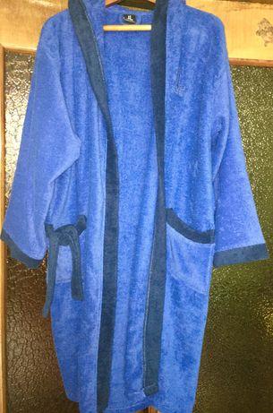 Халат махровий ,новий,синього кольору