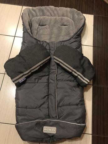 Komplet śpiwór i rękawiczki do wózka