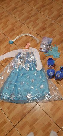 sukienka Elsa nowa i dodatki