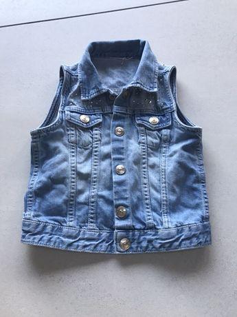 Kamizelka bezrękawnik Dżins Jeans 116