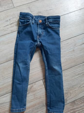 Spodnie  jeansy rurki  h&m r. 98