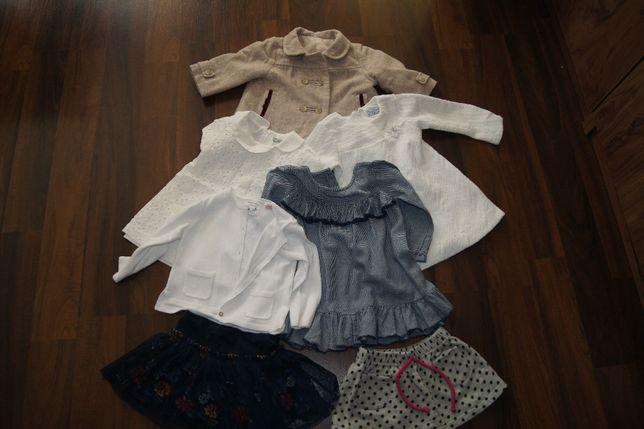 ubranka dla dziewczynki rozmiar 80 Zara, Mayoral i inne