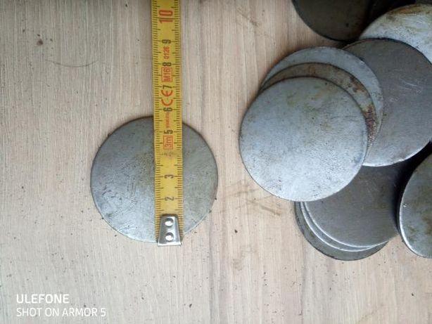 Krążki stalowe średnica 58mm grubość 2 mm