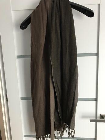 Długi szalik Solar, beżowo-brązowy