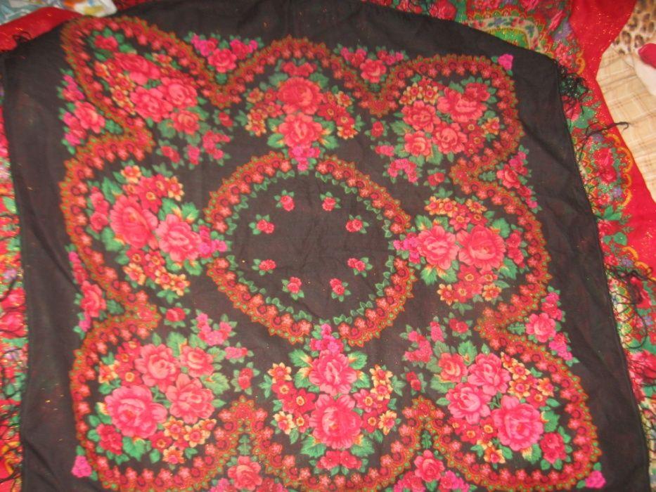 Шерстянная платок-шаль чёрная с бахромой.95х93см Киев - изображение 1