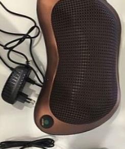 Подушка массажная 8 роликовс прогревом для мышц шеи и спины