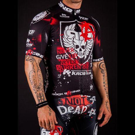Rowerowy strój kolarski rowerowy. Ubrania na rower rozmiar L koszulka