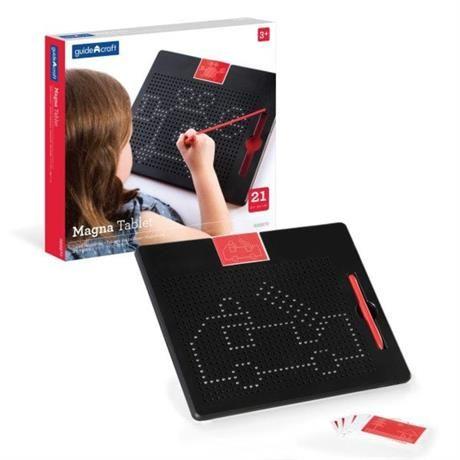 Магнітний планшет Manipulatives для малювання, з шаблонами і ручкою