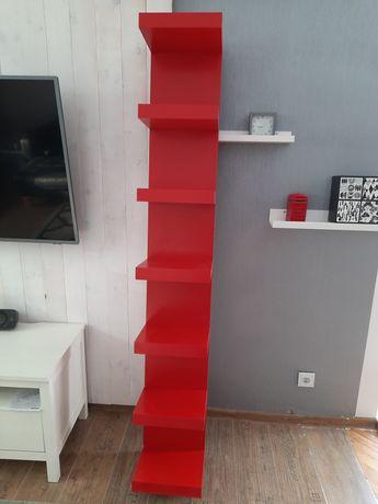 Czerwona półka ścienna Ikea Lack