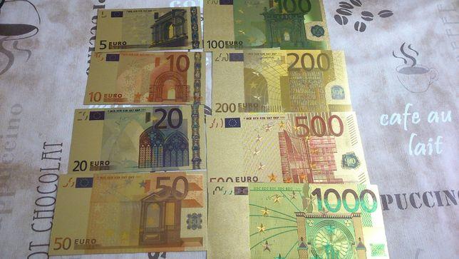 Złote banknoty Euro: od 5-500 Euro. Piękne! Na sztuki. Najtaniej.