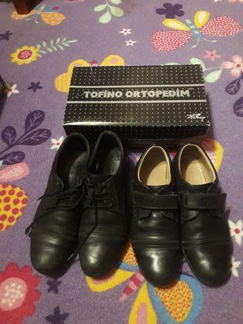 Продам кожаные туфли на мальчика р.34,36