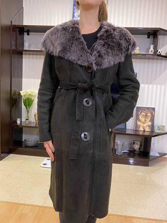 Красивейшая натуральна дубленка Izabel Donna. Размер 46-48