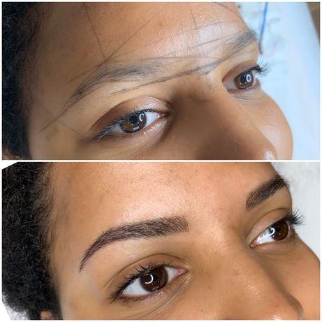 Makijaż permanentny brwi- microblading, ombre, pudrowa i hybrydowa
