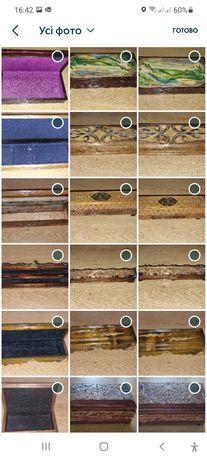 Старинные шкатулки для ножа, украшений, ручки, оружия