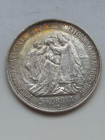 5 koron 1907r Koronacja