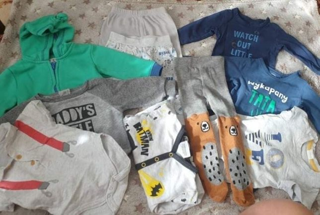 Paka zestaw ubrań dla chłopca 62