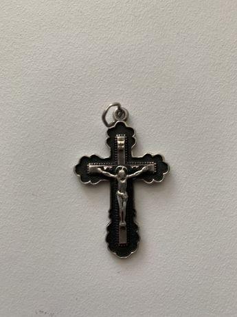 Серебряный крестик мужской