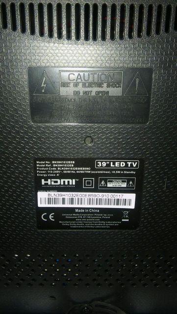 Blaupunkt 39 Cali Led TV BN39H1032EB uszkodzony