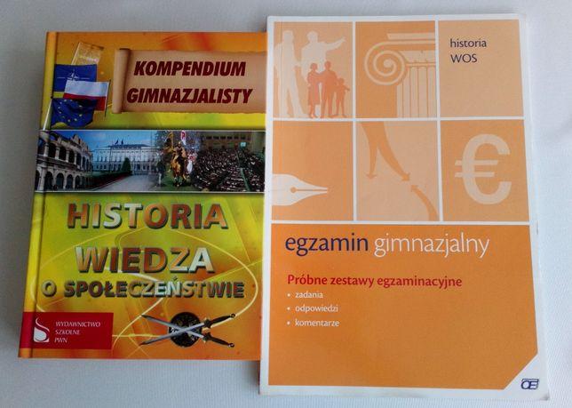 Kompendium + próbne zestawy egzaminacyjne ósmoklasisty Historia + WOS