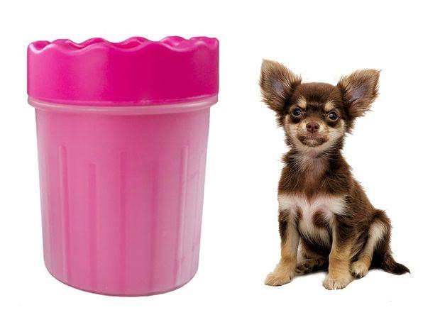 KUBEK CZYŚCIK SILIKONOWY DO ŁAP psa kota zwierząt kolory rozm M