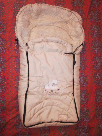 Спальный мешок спальник конверт на овчинке Womar
