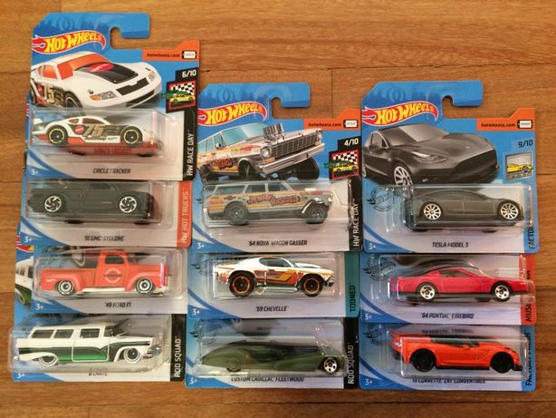 Hot Wheels Tesla Pontiac Corvette Chevy GMC amcar autka prezent