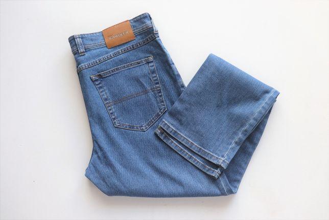 Luksusowe męskie spodnie jeansy Atelier GARDEUR W35 L32 jak nowe XXL