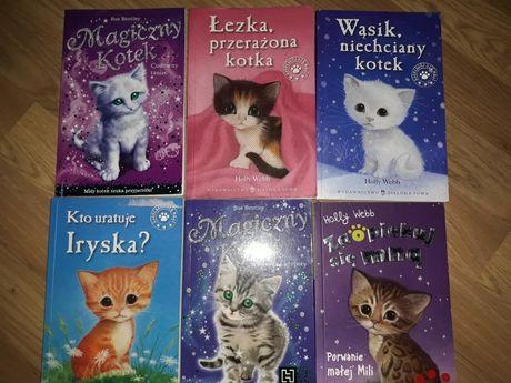 Książki o kotkach z serii Zaopiekuj się mną i Magiczny Kotek