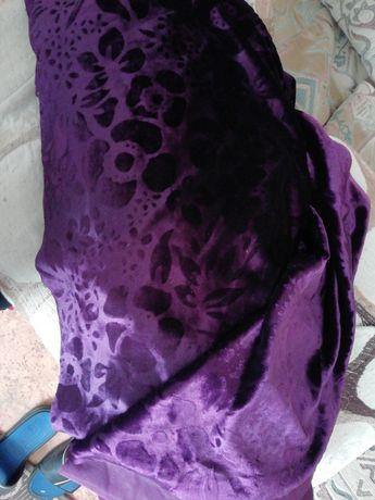Ткань велюр, бархат на тканевой  цвет сереневый